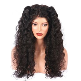 $enCountryForm.capitalKeyWord Australia - 100% unprocessed made in China aaaaaaaa virgin remy human hair long natural color kinky curly full lace cap wig for girl
