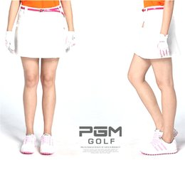 Ladies White Cotton Skirt NZ - Golf Skirt Ladies Lady Girls Sport Clothing Female Leisure Outdoor Skirt High Quality PGM Brand Solid Women Short Dress 3 Color