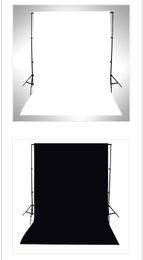 Muslin Fabric Photography Backdrop Australia - Black and White WFaced Fabric Photography Photo Studio Cotton Chromakey Screen Muslin Background Cloth Backdrop Chroma Key