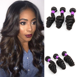 8A Brazilian Hair Loose Wave 3 Bundles Unprocessed Brazilian Virgin Hair  Extensions Cheapest Weaving Human hair weft 6930e7134402