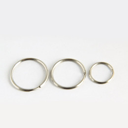 metal rings 25mm UK - 25mm 35mm 32mm Metal Key Holder Split Rings Unisex Keyring Keychain Keyfob Accessories Free Shipping QW7200