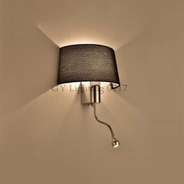 Hotel reading wall light australia new featured hotel reading wall reading room hotel modern fabric living room bedroom hallway led bedside lamp switch american wall light fabric lampshade shade aloadofball Gallery