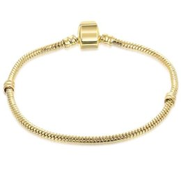 $enCountryForm.capitalKeyWord UK - Mix size Retro Gold Plated Bracelet with LOGO Charm 17CM-21CM Snake Chains DIY Jewelry Accessories fit European Style Beads Wholesale