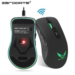 75e6dc8cd89 2019 ZERODATE X90 USB 2.4GHz Wireless Mouse Colorful Breathing Backlight  2400DPI Optical Computer Mouse Gamer For PC Laptop H1Z1 From Tangniao, ...