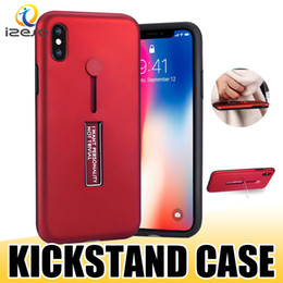 metal phone holders 2019 - For iPhone Xs Max Xr X 8 7 Plus Hybrid Ring Holder Metal Stand Armor Phone Case Anti Shock Kickstand Back Cover Shell di