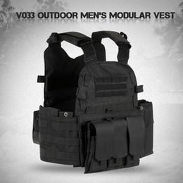 Molle vest gear online shopping - Men s Modular Vest Hunting Gear Load tactical Carrier Vest Field Battle Camouflage Molle Combat Assault Plate Vest Hydration Pocket Swat