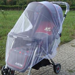 Pram Bebê Mosquiteiro Stroller Ampliar Cobertura Completa De Malha De Criptografia Buggy Cobrir Camas Redes Bloco Moscas Para Saúde Do Bebê 5 cores NNA560 em Promoção