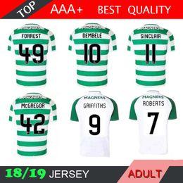 572f0c0a1 18 19 Celtic Home Soccer Jersey Away Short sleeve soccer jersey Griffiths  dembele Sinclair Rogic McGregor Roberts Forrest Football shirt uni