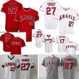 c0844e4dd 2018 new 27 Mike Trout Los 17 Shohei Ohtani Jersey Men stitched Baseball  Jerseys Cheap wholesale Free Shipping