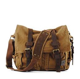 Yellow Camera Bag UK - Fashionable outdoor travel vintage men's canvas single shoulder slant slant slant shoulder bag sports camera bag