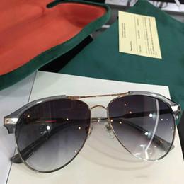 53bbb6e890 wholesale fashion designer sunglasses 0288 pilots leather frame classic  retor style uv 400 outdoor protection eyewear