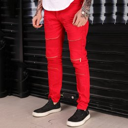 9009179959 Men Jeans New Red Color Casual Fashion Trousers Leisure casual Men s Jeans  Vintage Skinny Ripped Hip Hop Swag Man pants