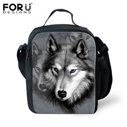$enCountryForm.capitalKeyWord Canada - FORUDESIGNS Bolsa Termica 3D Animal Wolf Tiger Lunch Bags For Kids Insulated Picnic Lunch Box School Bags Picnic Pouch