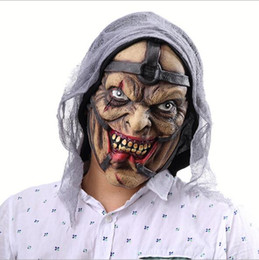 Wholesale corpse party cosplay online – ideas Halloween Party Mask Toy Latex Horror Screaming Corpse Overhead Zombie Mask Scary Bloody Costume Cosplay Face Mask