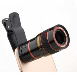 smartphone camera lens NZ - Universal Clip 8X Optical Zoom Lens Mobile Phone Telescope Lens Telephoto External Smartphone Camera Lens Photograph Accessories
