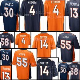 6ebcd32c6 Denver  14 Courtland Sutton 4 Case Keenum 55 Bradley Chubb Bronco Jersey  Men 58 Von Miller 7 John Elway 30 Terrell Davis stitching Jerseys