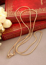 Discount mexican gold chain prices - 2.2MM Snake Chain Gold Necklace Chain length 75CM Fashion Jewelry High Quality Factory Price wholesale