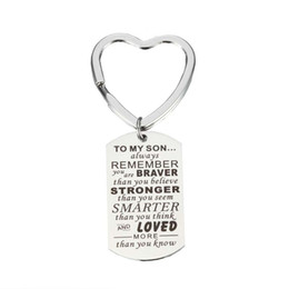 stainless steel keyrings wholesale NZ - 2pcs lot GRACE MOMENTS Positive Words Letters Engraved 22*39mm Stainless Steel Dog Tag Keychain DIY Keyring Jewelry Making Gift