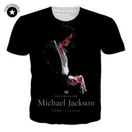 de140279 Fashion Basic Clothing Men Women T-shirt 3d Print Michael Jackson T-Shirt  Unisex Plus Size Tee Shirts Summer Trend Tee Dropship