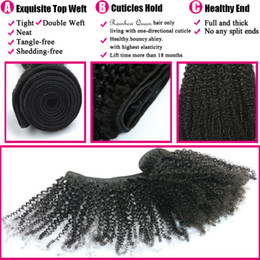 Discount natural hair curls - 8A Cheap Mongolian Afro Kinky Curly Virgin Hair 4 Bundles Kinky Curly Afro Curl Mongolian Kinky Curly Hair Natural Human