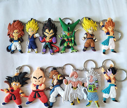 dragon ball z cartoon gifts 2020 - 12 Styles Dragon Ball Z keychains Classic Cartoon Dragonball Z Super Saiyan Pendants Keyring Series Gifts DHL