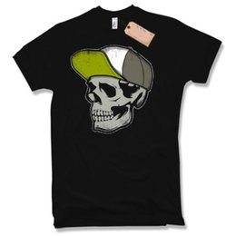 biker skull caps UK - Skull Cap T-Shirt - BIKER HOT ROD V8 Skull Motorcross Cult Oldschool S - XXL