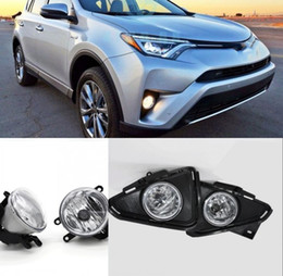 toyota rav4 fog lamps NZ - Car Fog Lights For 2016-2017 Toyota RAV4 Halogen bulb Clear Front Fog Lamp Assembly kit (one Pair)