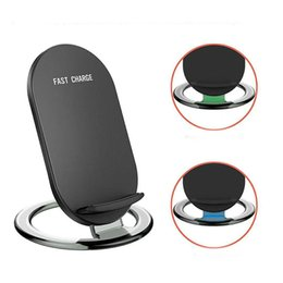 iphone phone dock wireless NZ - N900 Fast Quick 2 Coils Qi Wireless Charger Charger Dock Phone Holder For Samsung Galaxy S7 S8 Note8 iPhone X 8 Plus