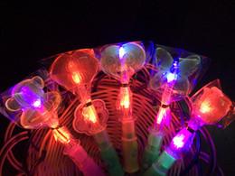 cartoon lollipops 2019 - Glowing lollipop bar night 50 mixed pack butterfly cartoon love lips colorful LED lollipops discount cartoon lollipops