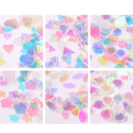 $enCountryForm.capitalKeyWord NZ - 3D Transparent Square Nail Sequin Stickers Glitter Decal Female Nail Art Decor Wraps Free Shipping In Russia