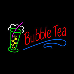 "storing tea NZ - Bubble Tea Open Neon Sign Handmade Custom Real Glass Tube Drink Store Bar KTV Club Pub Advertise Decoration Display Neon Signs 19""X10"""