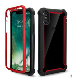 $enCountryForm.capitalKeyWord NZ - Hybrid 3 in 1 Defender Clear Soft TPU Hard PC Back Cover Cell Phone Case for iphone XS MAX XR X 7 8 6 plus S9 S8 plus Note 8 9