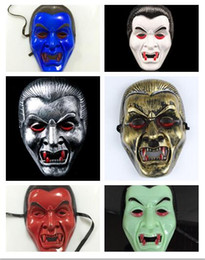 zombie masks 2019 - 2018 Newest Masquerade Mask Halloween props Skull Dracula Vampire face mask Blood sucking zombie mask 6 color Choice che