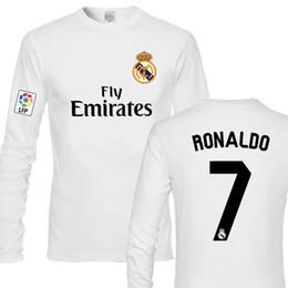 Ronaldo Grey Jersey Canada - plus S-3XL Football loose casual cotton long-sleeved fans T-shirt men & women lovers ronaldo Messi NEYMAR JR SUAREZ top shirt Soccer Jersey
