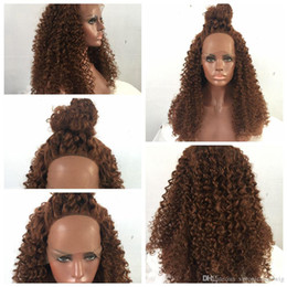 $enCountryForm.capitalKeyWord Australia - New Sexy Style Brown curly long wigs for black women heat resistant synthetic lace front wigs with baby hair fast shipping high quality