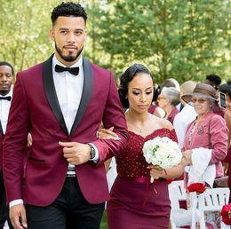 4f5c6071c8f2 White boW tie black trim online shopping - 2018 Groom Tuxedos Wedding Suits  Groomsmen Best Man