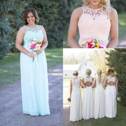6874bd741f HigH waist maternity dresses online shopping - Cheap New Country Style  Bridesmaid Dresses Pink Ivory Lace