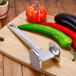 Cooking Steak Kitchen NZ - Professional Aluminum Hammer Meat Tenderizer Steak Beef Chicken Pounders Cooking Tools Kitchen Accessories