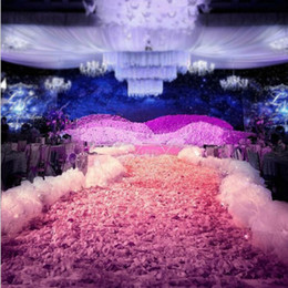 $enCountryForm.capitalKeyWord NZ - Elegant White Wedding Decoration Snow Yarn String Party Aisle Runner Edge Decor Road Cited 10 Meters Long Free Shipping