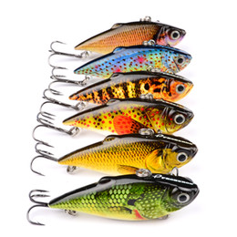 Chinese  6pcs  Lot  Set New Design Painting Fishing Lures 2 .5 &Quot ; 8 .64g Vib Pencil Bait 6 Colors Crankbait Fishing Tackle Baits Minnow Bass manufacturers