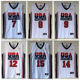 f6de62f66 1992 USA Dream Team Jerseys 7 Larry Bird 8 Scottie Pippen 12 John Stockton  14 Charles Barkley Jersey Navy White Stitched Throwback Jerseys