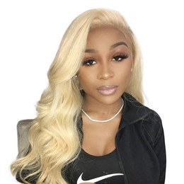 Platinum blonde lace front wigs online shopping - Platinum Blonde Wig For Women Body Wave Pre Plucked Virgin Brazilian Hair Blonde Full Lace Wig Human Hair With Baby Hair