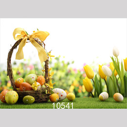 $enCountryForm.capitalKeyWord Australia - Basket Happy Easter Eggs Photo Background for Photo Studio Camera Fotografica Vinyl Cloth Photography Backdrops for Holiday Party Kid 10541