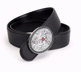 China Women's leather belt fashion Korean women's decoration belt women's water diamond joker fashion leather belt cheap joker belt suppliers