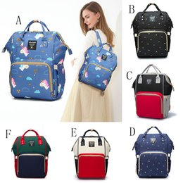 Wholesale baby backpacks online shopping - Mommy Diaper Bags Fashion Mother handbag Multifunction unicorn print Backpacks Outdoor baby Nursing Travel Bags C4181