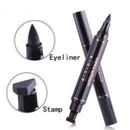 Objective New Sexy Waterproof Double Head Black Wing Shape Eyeliner Stamp Seal Eyeliner Pencil Cat Eye Cosmetic Makeup Tool Wing Style Back To Search Resultsbeauty & Health Eyeliner