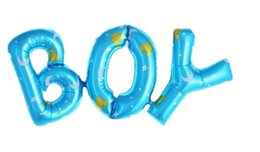 Baby Shower Party Blue UK - Letter Foil Balloons Wedding Decoration Baby Shower Boy Birthday Party Decorations Kids Ballon Boy Girl Inflatable Balls 3 orders