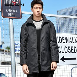 $enCountryForm.capitalKeyWord Canada -  2017 Long Trench Coat Men Hooded European Style Male Windbreaker Jackets Coats Army Green Black Mens Overcoat 113K28670