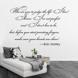$enCountryForm.capitalKeyWord NZ - Bob Marley Quotes Wall Decals Vinyl Word and Letters Wall Art Decals Large Quotes Wall Sticker Murals for Living Room Removable