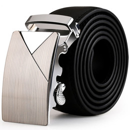 leather ratchet belt NZ - Top Man Belts Luxury High Quality Cow Genuine Leather Ratchet Belts For Men Automatic Buckle Wedding Waist Male Kemer LXGL161